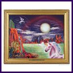 Unicorn Dreams Oil Painting